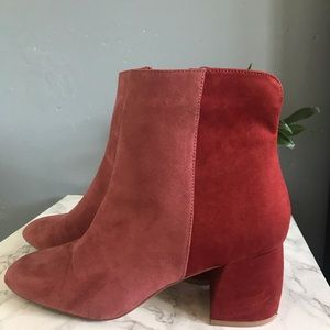 Chinese laundry two tone pink boots